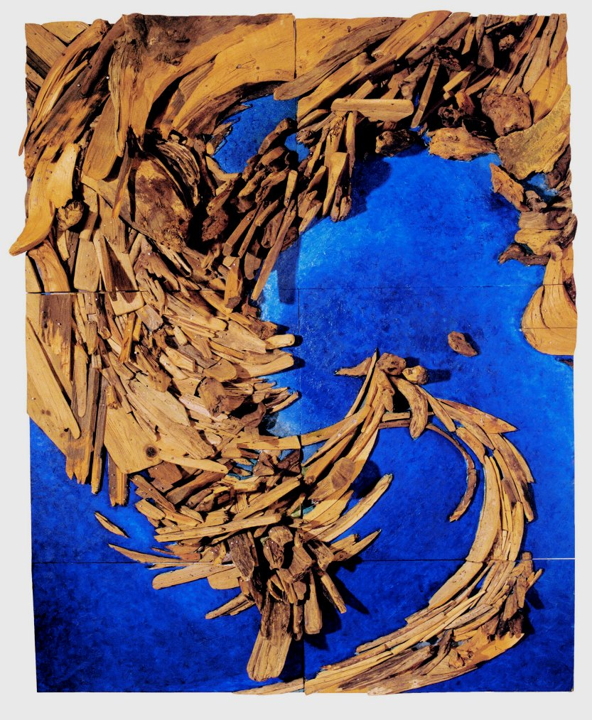 Wagner_L_LW-Insel, 1994, Holzrelief, 200 x 160 cm